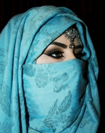 A niqab (facial veil) like Tahirih wore...and threw off