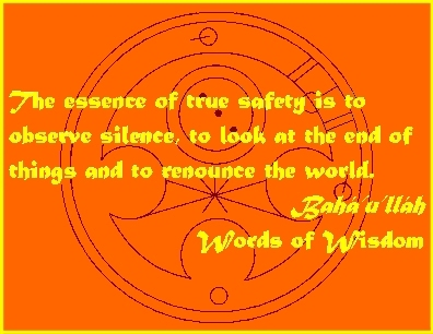 The essence of true safety is to observe silence, to look at the end of things and to renounce the world. #Bahai #Safety #bahaullah #WordsOfWisdom