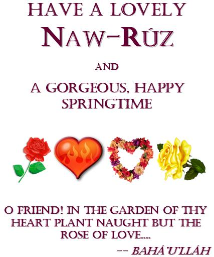 Mya's 2013 Naw-Ruz Greeting